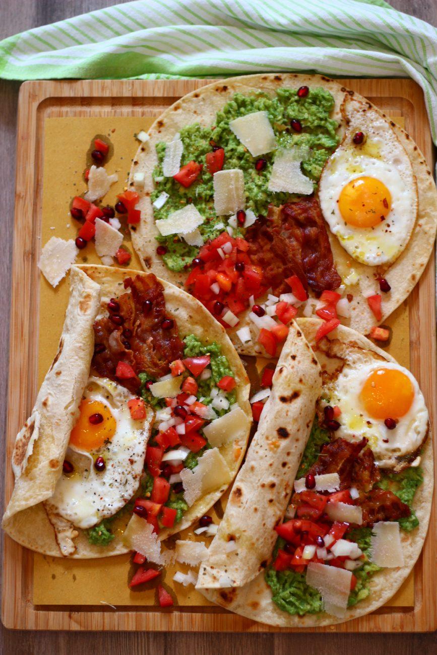 Brunching-Pite me salcë guacamole dhe vezë